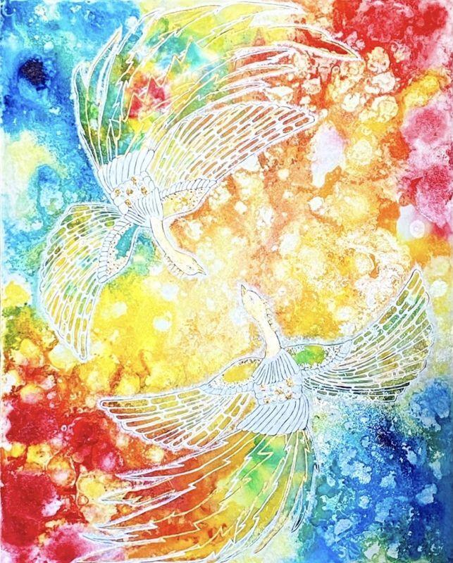 ☆yhikarinoart mika☆画家 川端 三賀 ☆ヒーリングアート